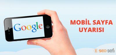 google mobil yönlendirme bildirimi