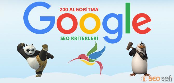 Google Algoritmaları