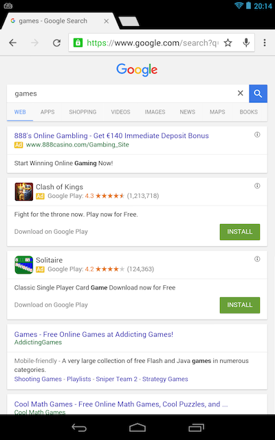 google tablet yeni arayüz nexus7