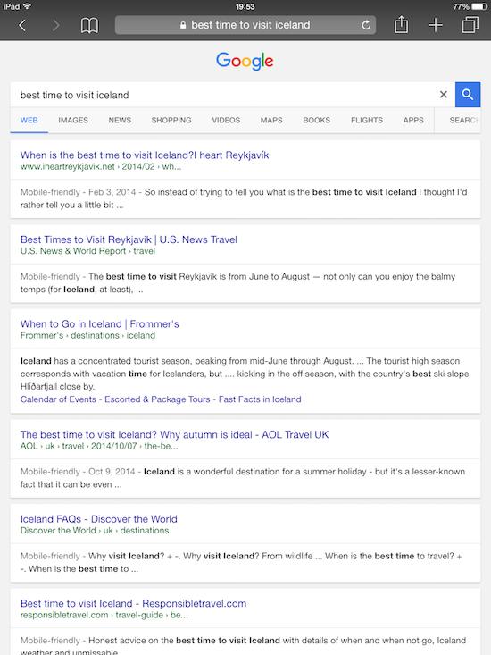 google yeni arayüz safari ve ipad