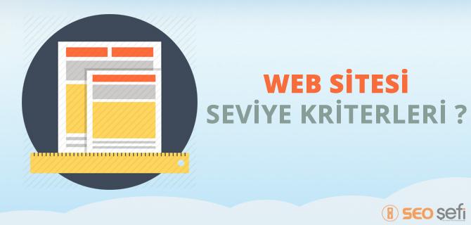 web sitesi seviye kriterleri