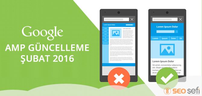 Google amp entegre 2016 şubat ayında