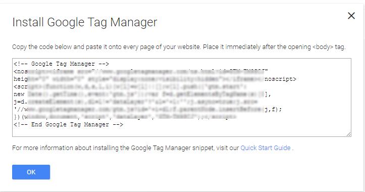 google tag manager kodları