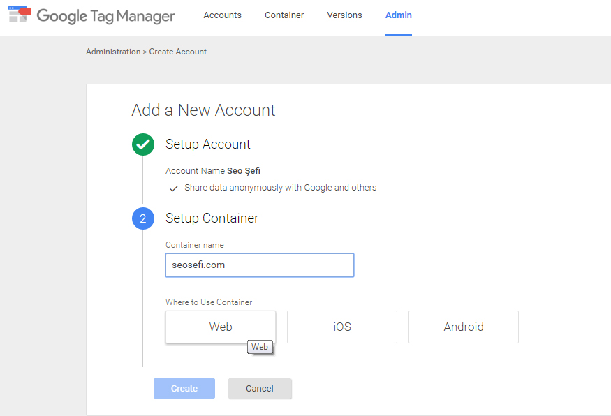 google tag manager kurulum