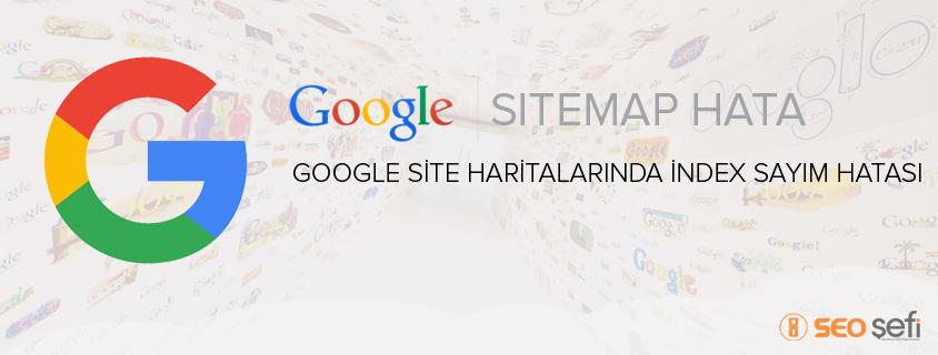 Google Site Haritalarında İndex Sayım Hatası