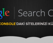 Search Console site kümelendirme