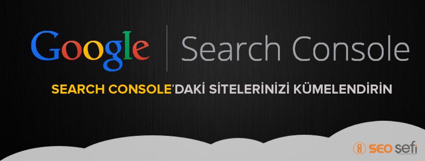 Search Console site kümelendirme