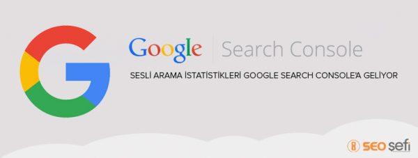 search console sesli arama özelliği