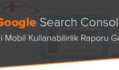 Search Console yeni