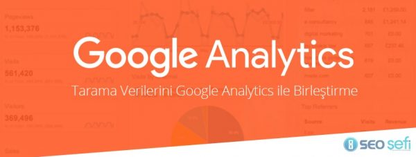 Tarama Verilerini Google Analytics ile Birleştirmek
