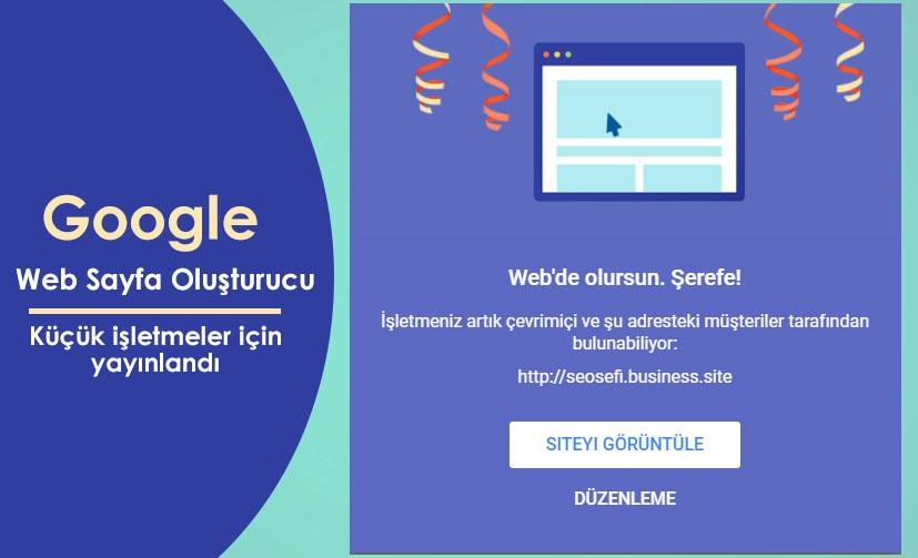 Google Küçük İşletmeler İçin Web Site Oluşturucu Yayınladı
