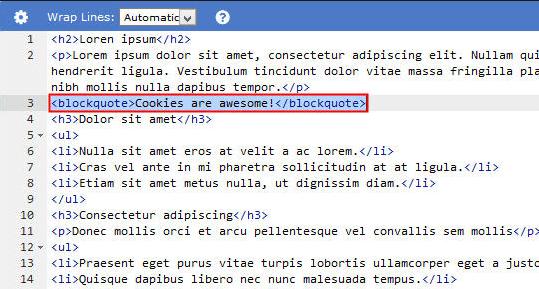 html kalın