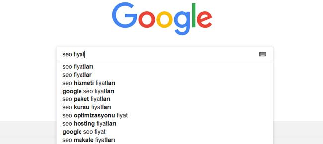 Google Arama Önerilerinden Yararlanma