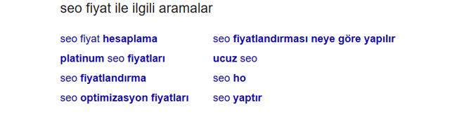 Google İlgili Aramalardan Yararlanma