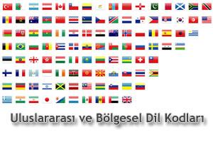 Uluslararası ve Bölgesel Dil Kodları