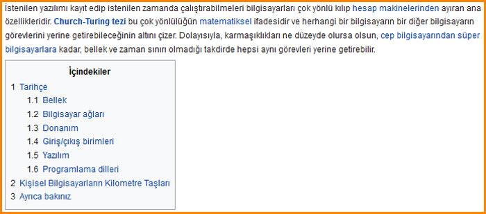 Wikipedia anahtar kelime