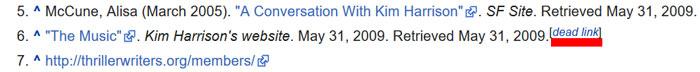 Wikipedia ölü link