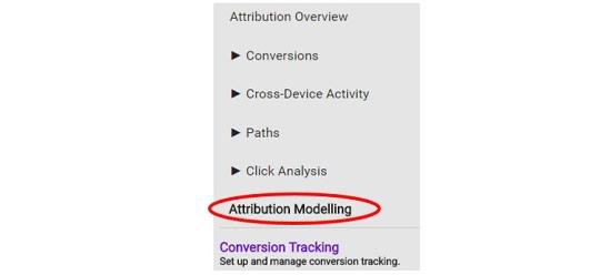 Google AdWords ayarlar ilişkilendirme modelleme