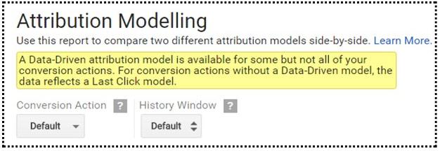 Google AdWords ayarlar ilişkilendirme sarı bildirim