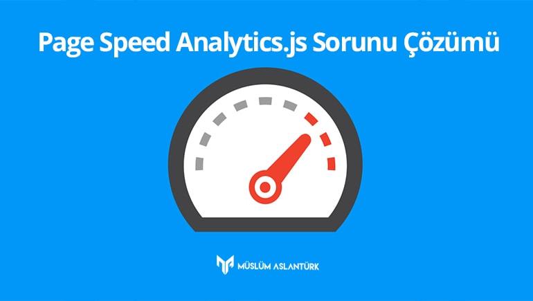 Page Speed Analytics js Sorunu Çözümü