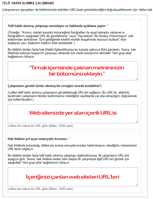 DMCA Gönder