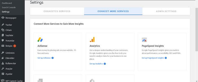 google site kit özellikleri