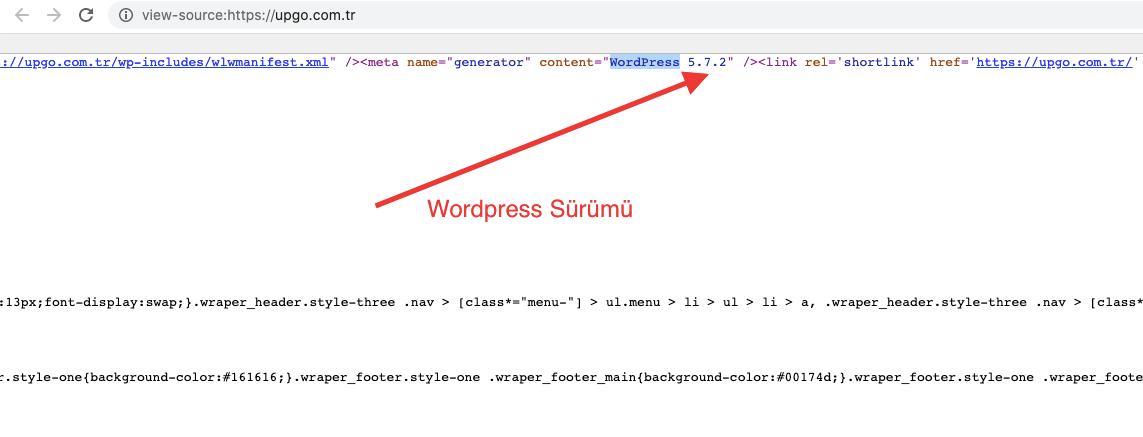 wordpress sürümü